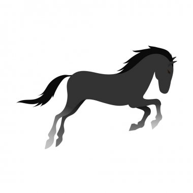 Horse vector isolated animal.