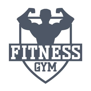 Gym fitness logo vector badge.