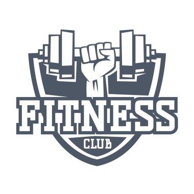 Gym fitness logo vector badge.