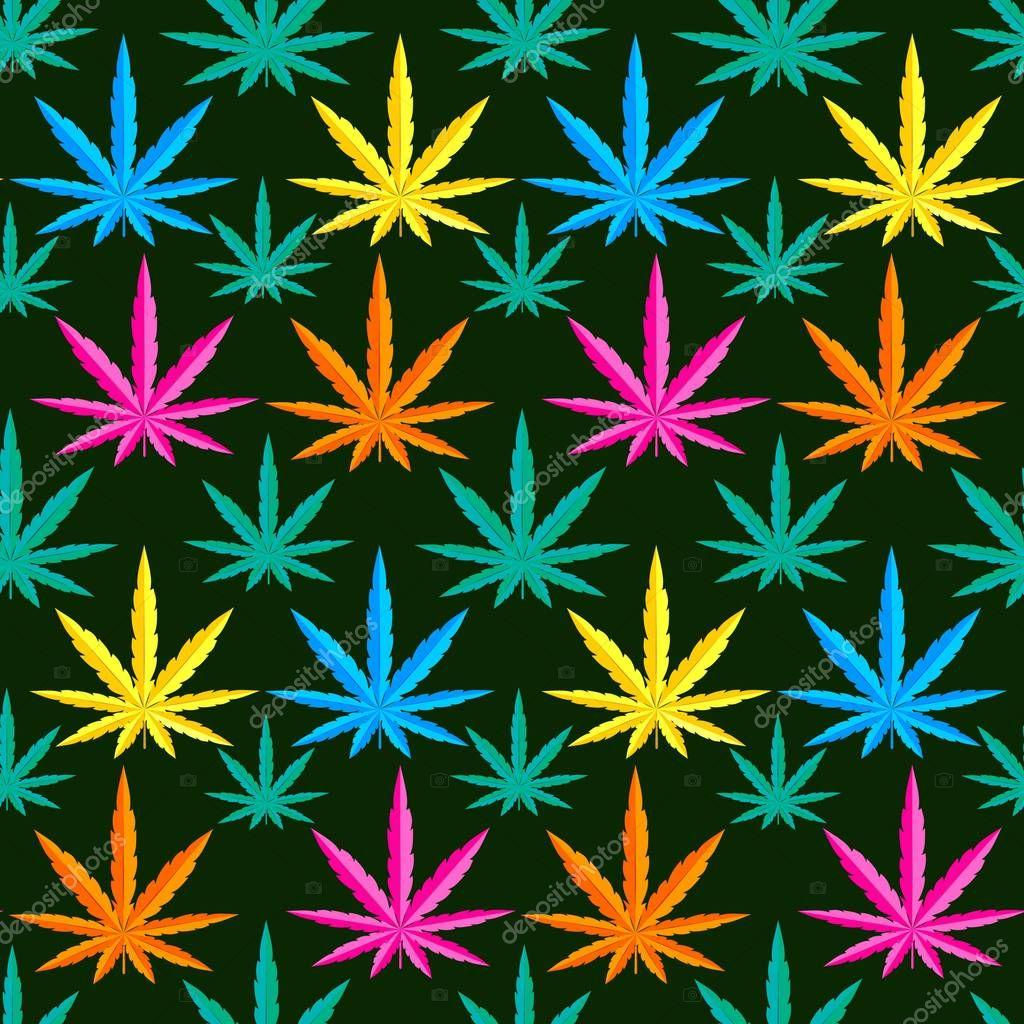 Marijuana background seamless patterns