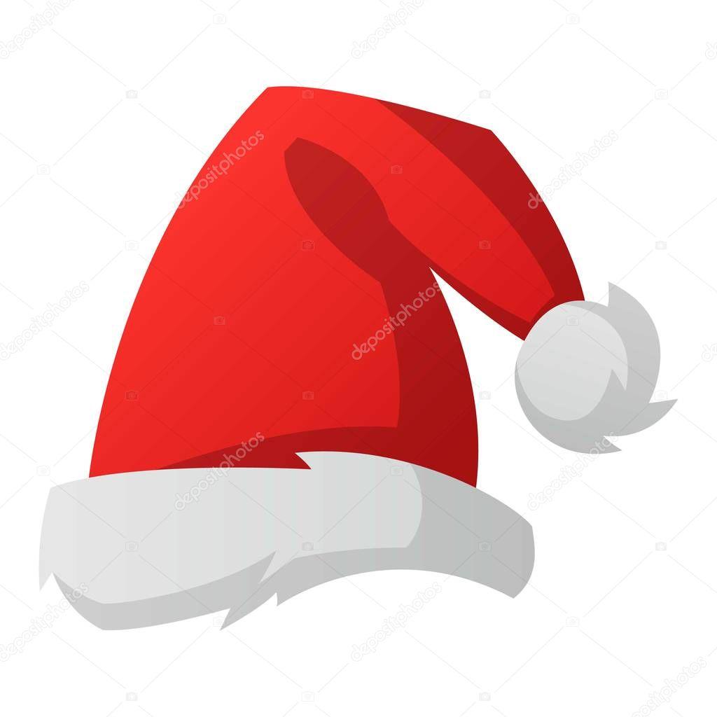 santa christmas hat vector illustration stock vector vectorshow rh depositphotos com santa hat vector christmas hat vector graphic