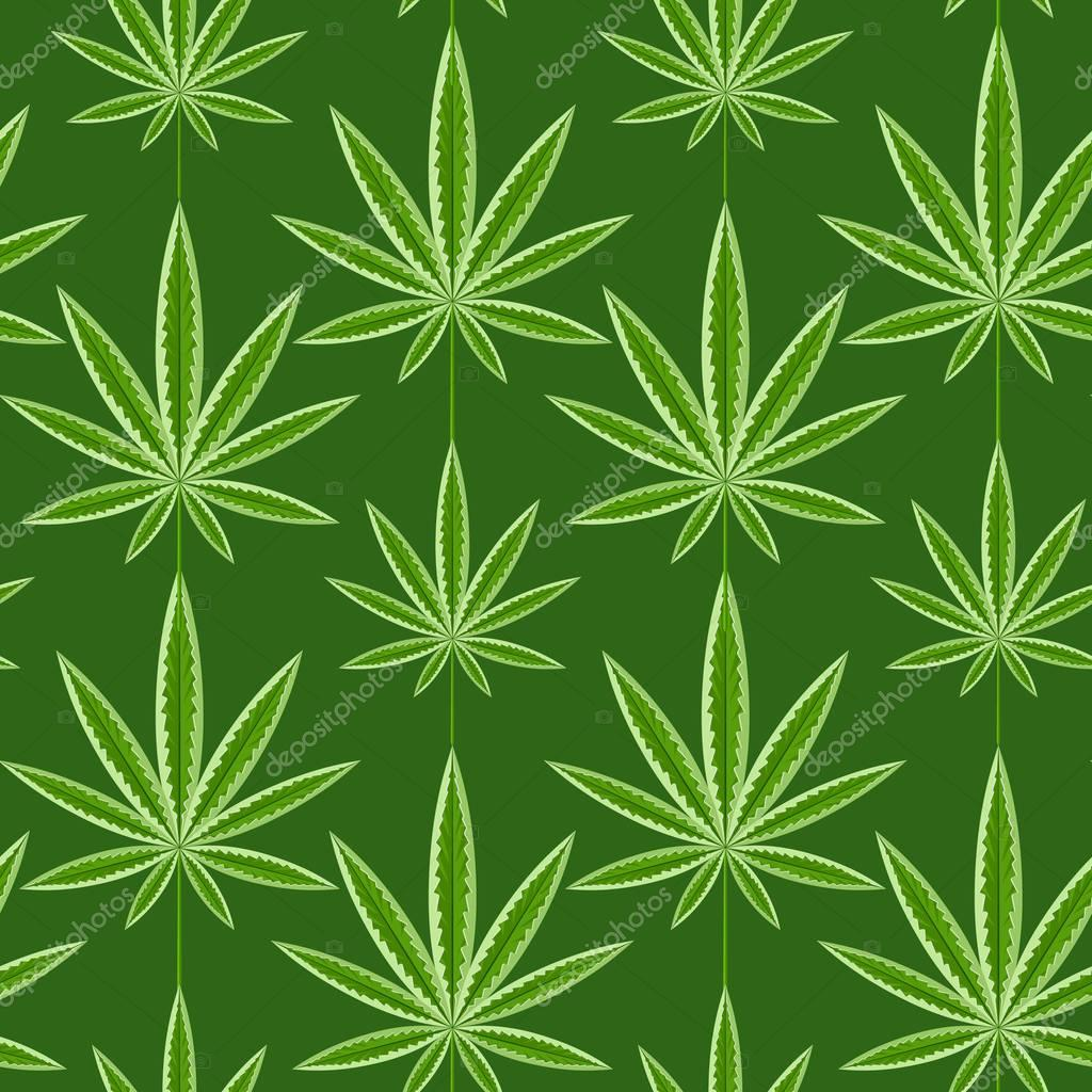 Marijuana background  seamless patterns