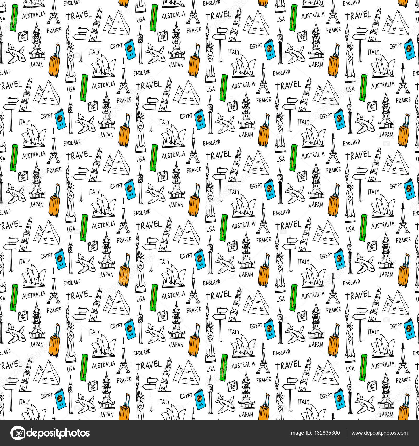 Garabatos vectoriales de patrones sin fisuras — Archivo Imágenes ...