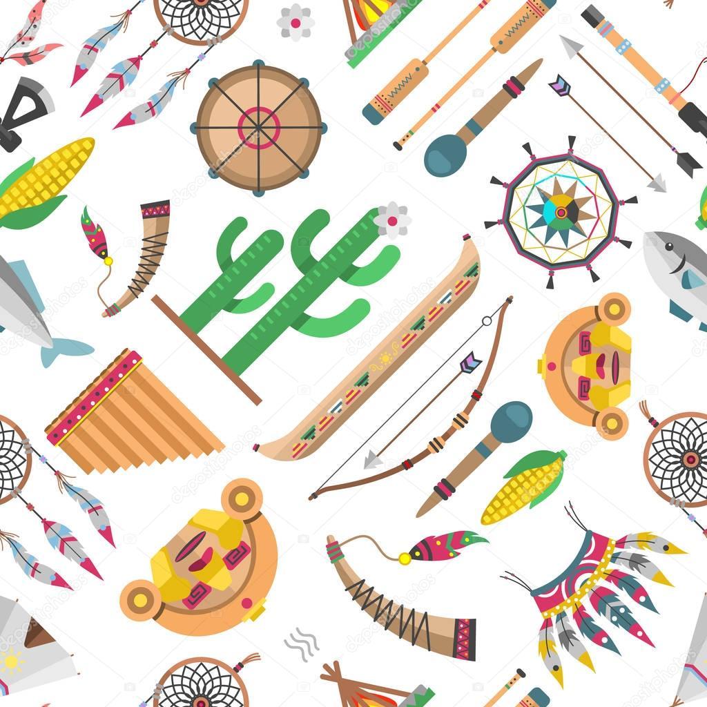 Indian pattern vector illustration.