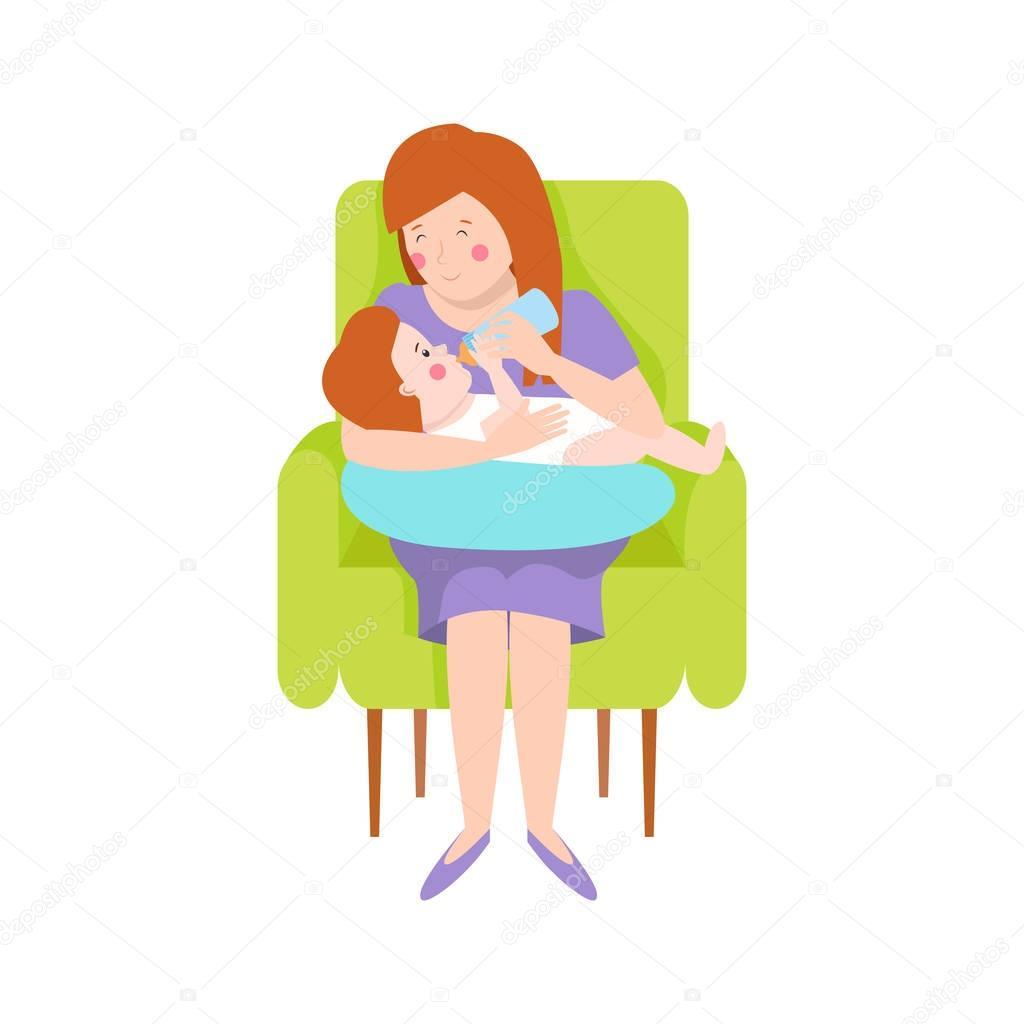 年轻的母亲3图片图库_年轻的母亲矢量字符 — 图库矢量图像© VectorShow #134983588