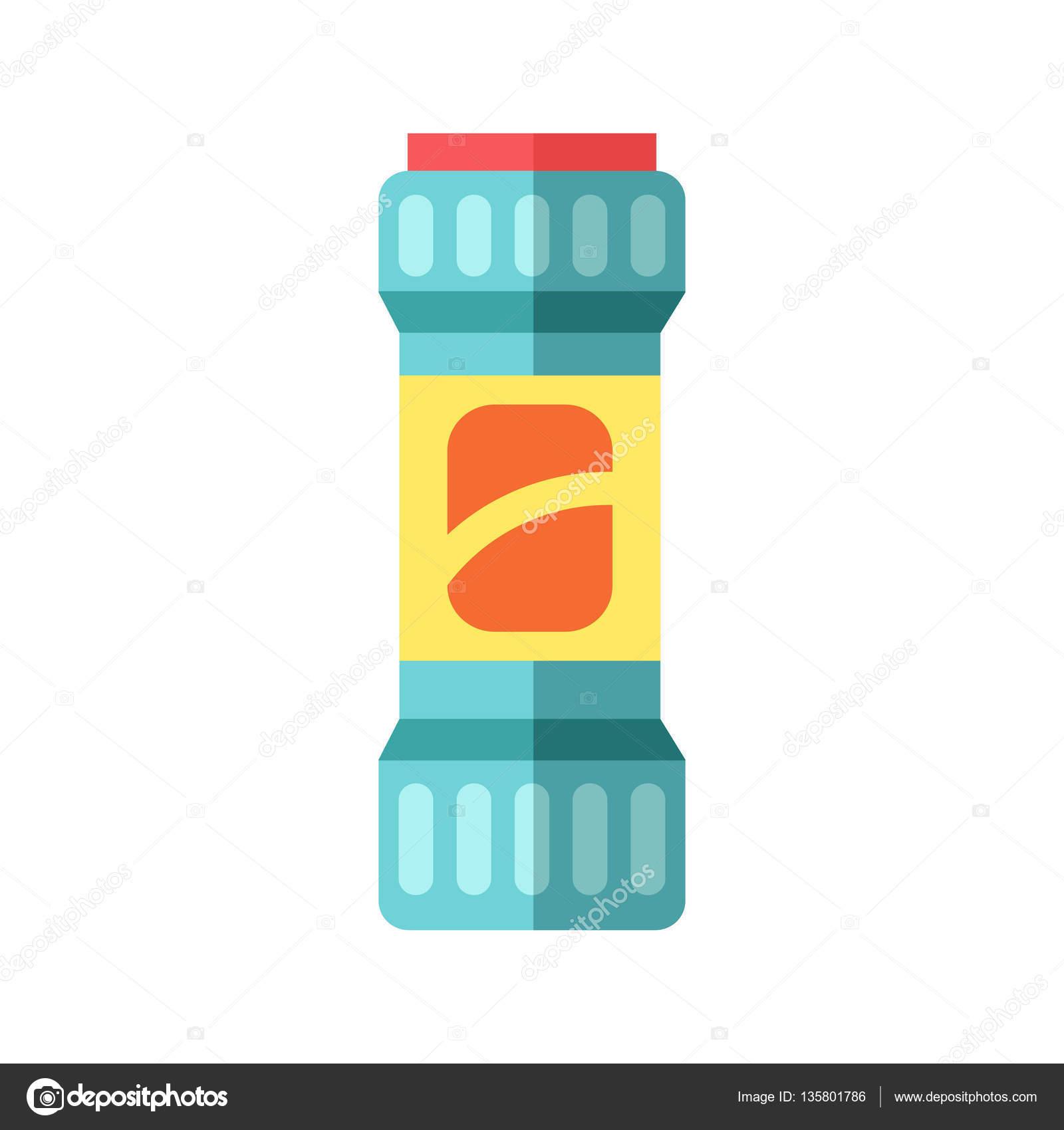 Flasche Vorlage leeres Paket Container Vektor — Stockvektor ...