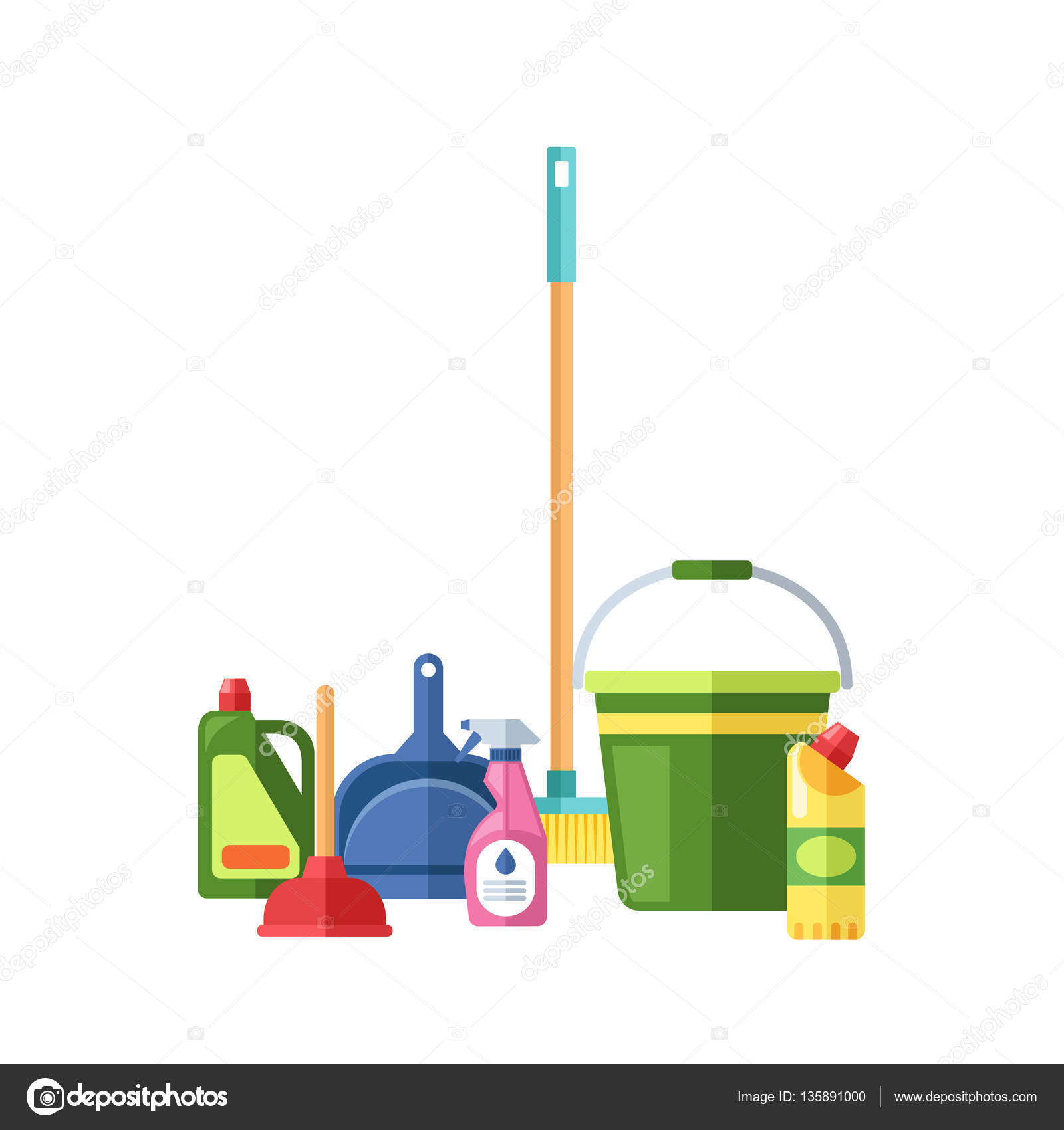 Vectorshow 135891000 for House cleaning stock photos