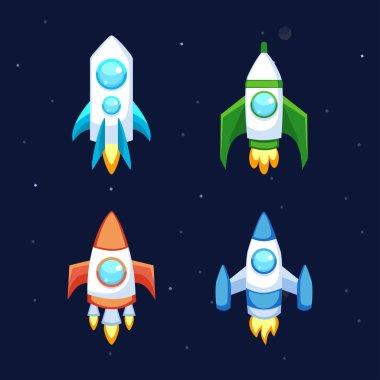Rocket vector icons