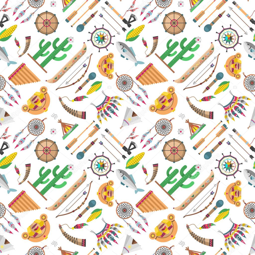 Indian pattern vector illustration.