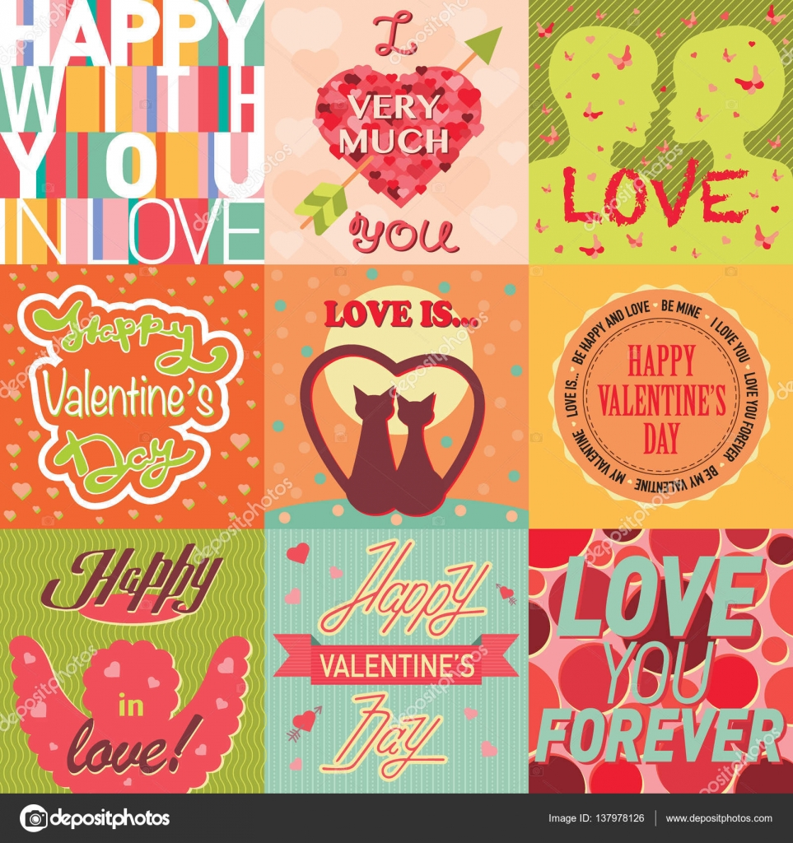 Valentinstag Karten Vorlage Vektor — Stockvektor © VectorShow #137978126