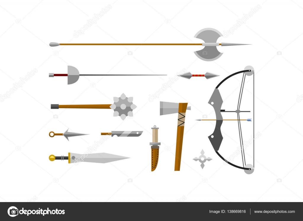 Messer Waffe Vektor Illustration Stockvektor C Vectorshow 138669816