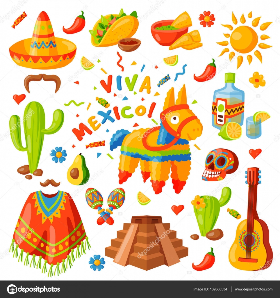 mexico icons vector illustration stock vector