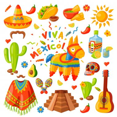 Mexico icons vector illustration.