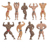 Fotografie Bodybuilder Figuren Vektor-illustration