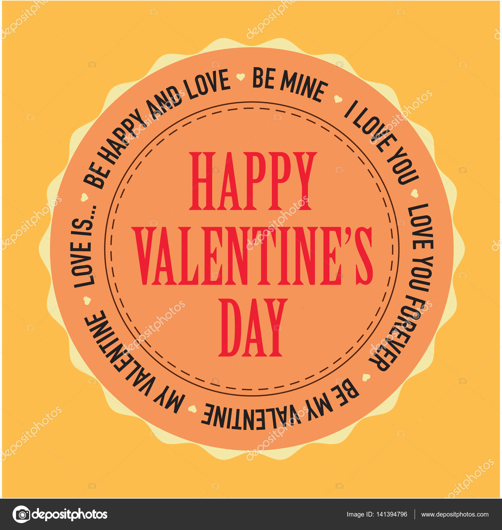 Valentinstag Karten Vorlage Vektor — Stockvektor © VectorShow #141394796