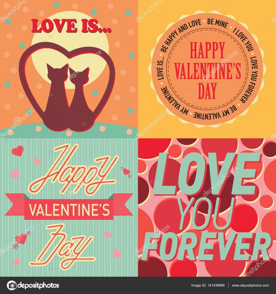 Valentinstag Karten Vorlage Vektor — Stockvektor © VectorShow #141439666