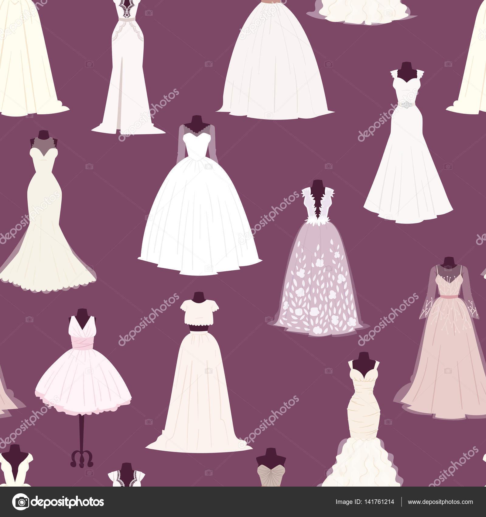 Свадебные платья векторе