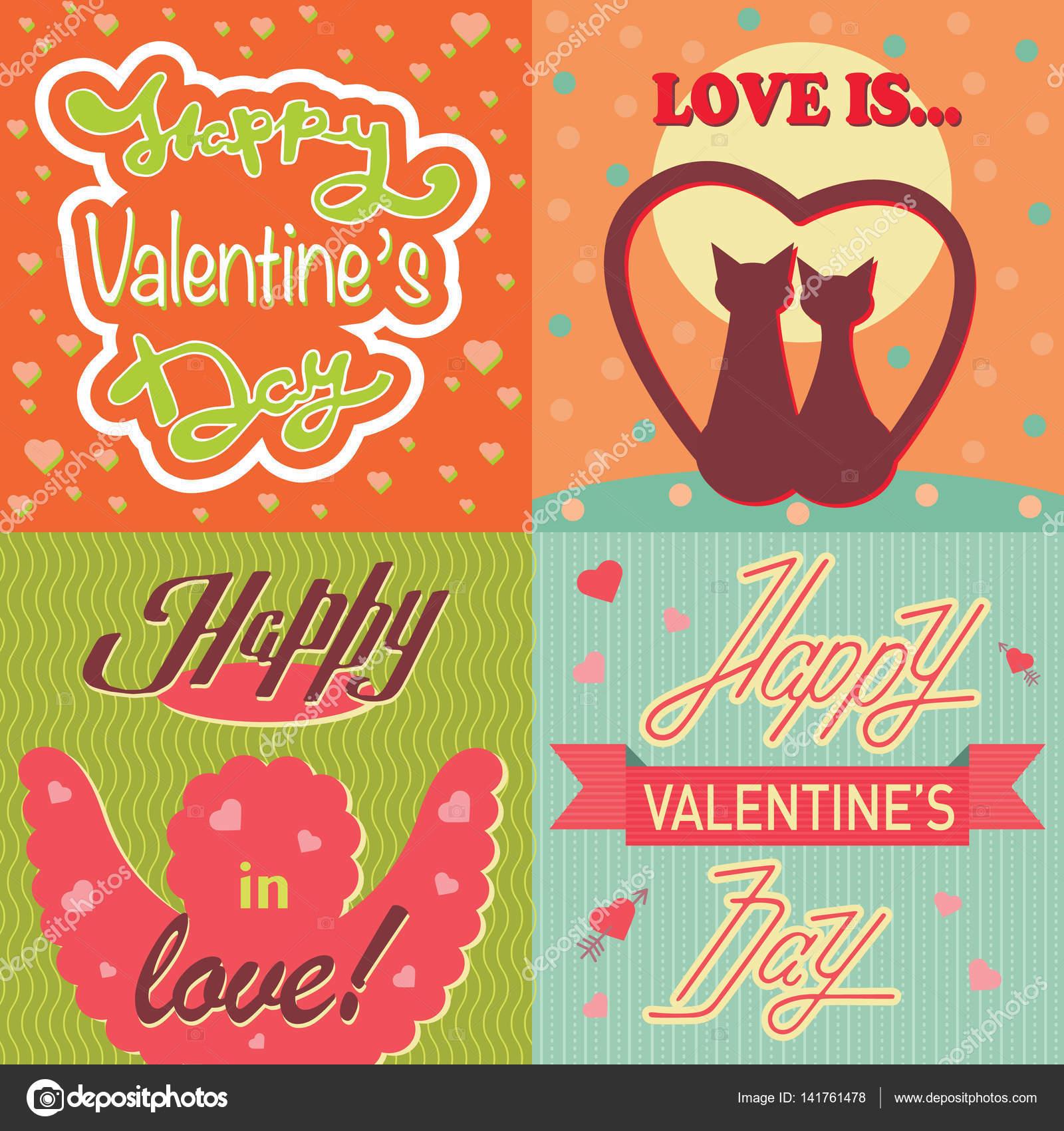Valentinstag Karten Vorlage Vektor — Stockvektor © VectorShow #141761478