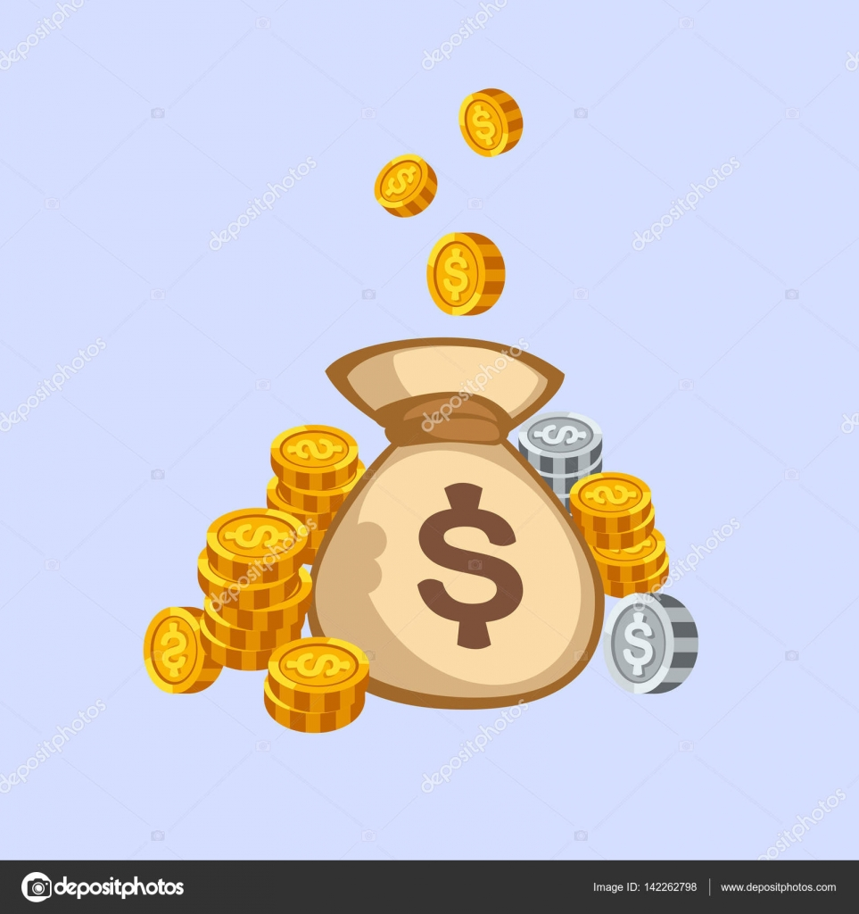 Stacks of gold money coins bag income profits cash wealth concept stacks of gold money coins bag income profits cash wealth concept banking sign and payment exchange biocorpaavc Images