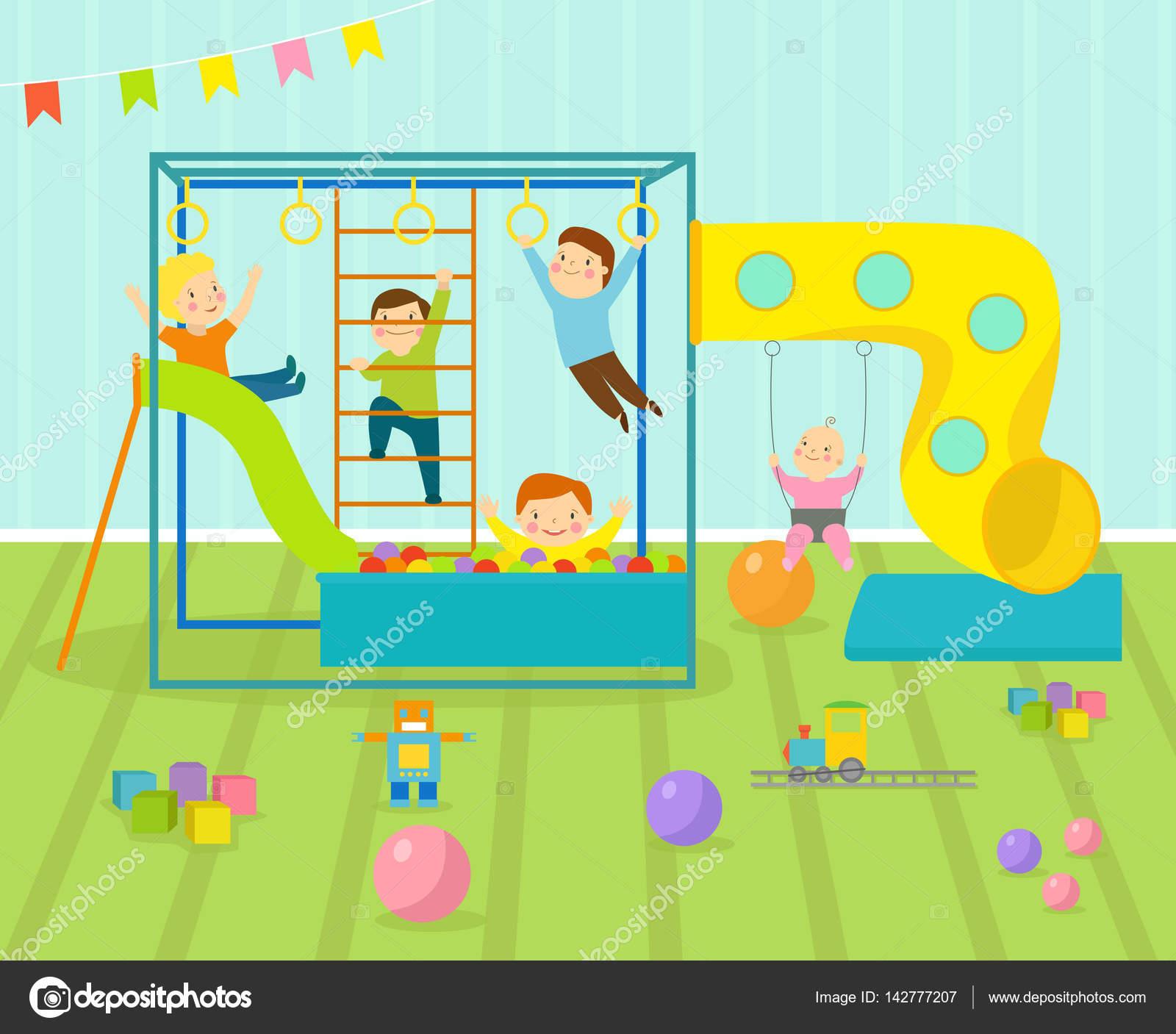 Salle De Jeux Pour Enfants Avec Un Mobilier Clair Decor Aire