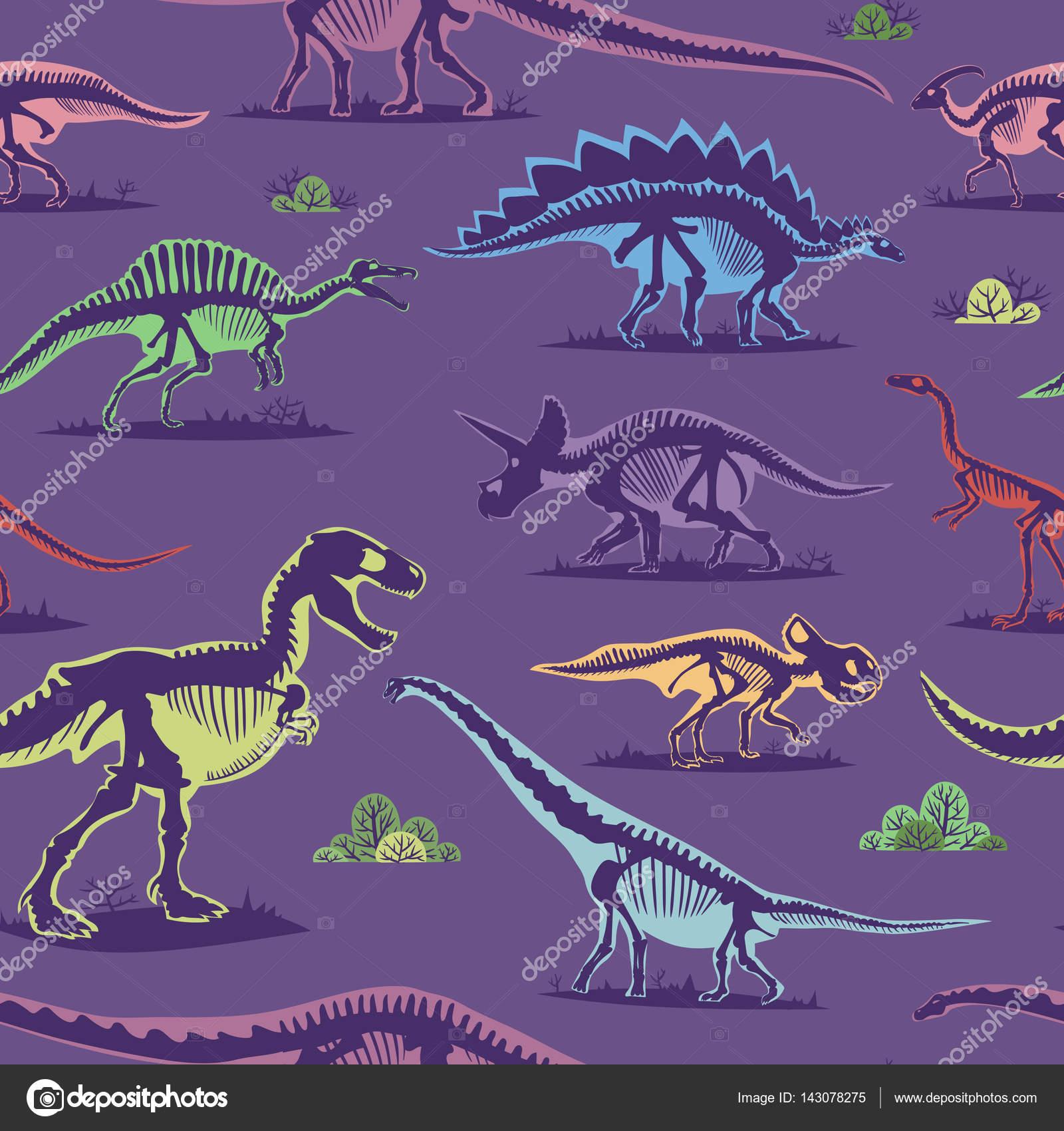 Dinosaurio color vintage vector de fondo — Vector de stock ...