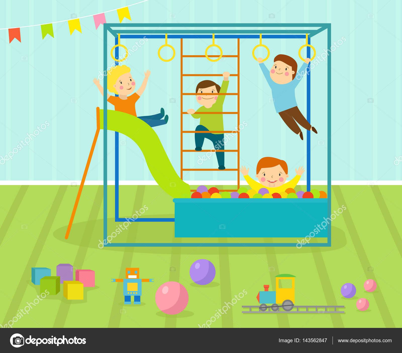 Sala De Juegos Infantil Con Luz Muebles Decoraci N Infantiles Y  # Muebles Juguetes Ninos