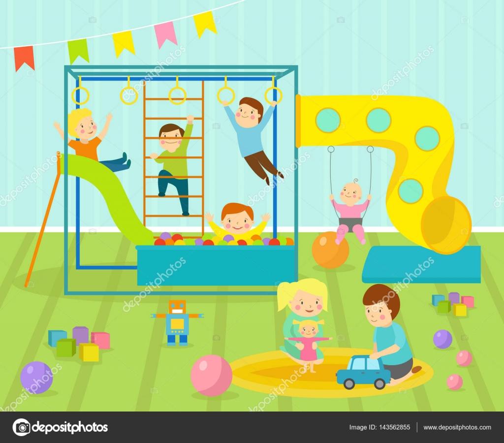 sala de juegos infantil con luz muebles decoracin infantiles y juguetes en la alfombra de piso