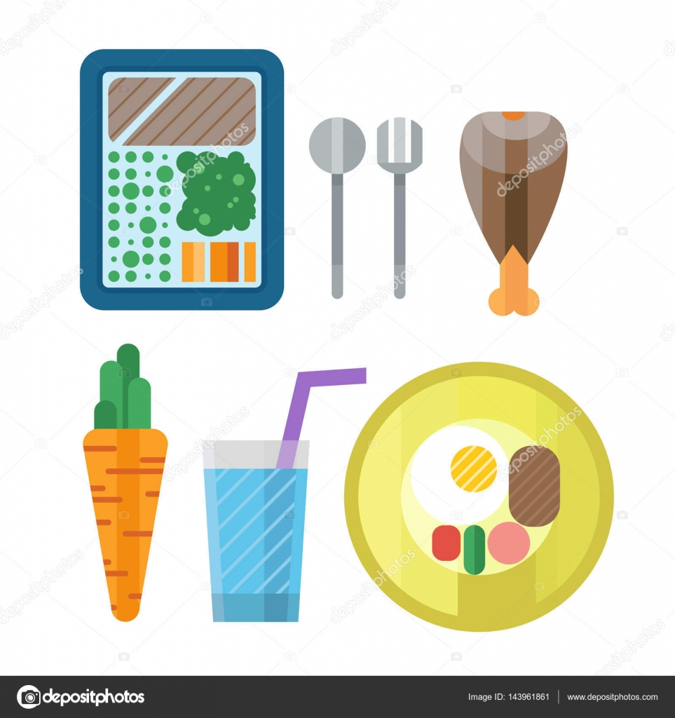 Sport nutrition icon in flat style detailed healthy food