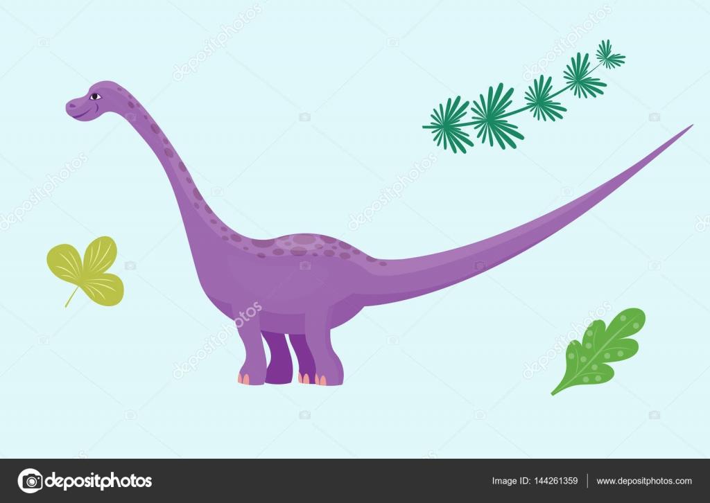 Dessin anim dinosaure diplodocus vector illustration monstre isol dino animaux personnage - Dessin de diplodocus ...