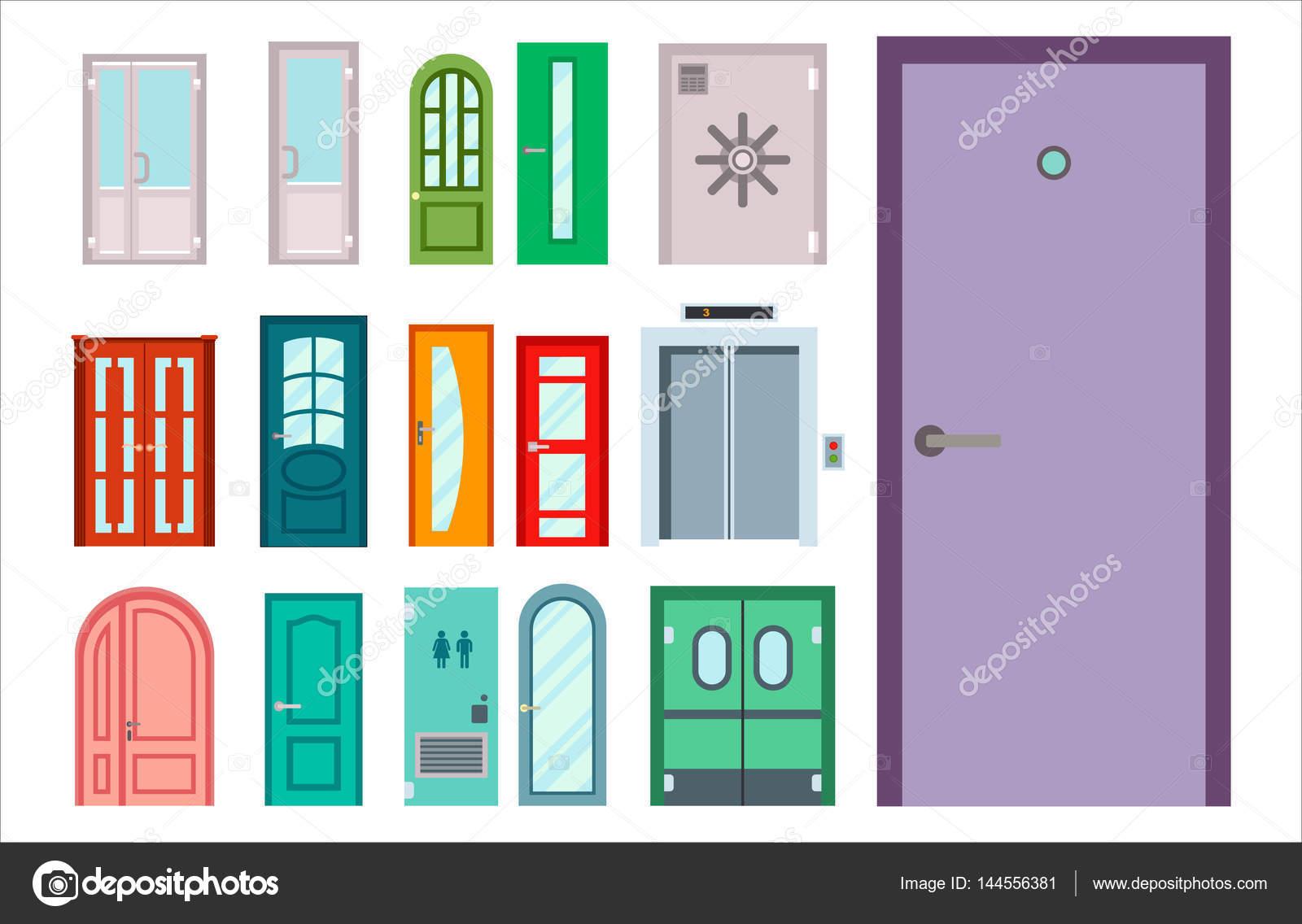 Puertas aisladas vector ilustraci n entrada puerta casa for Puertas para casas precios