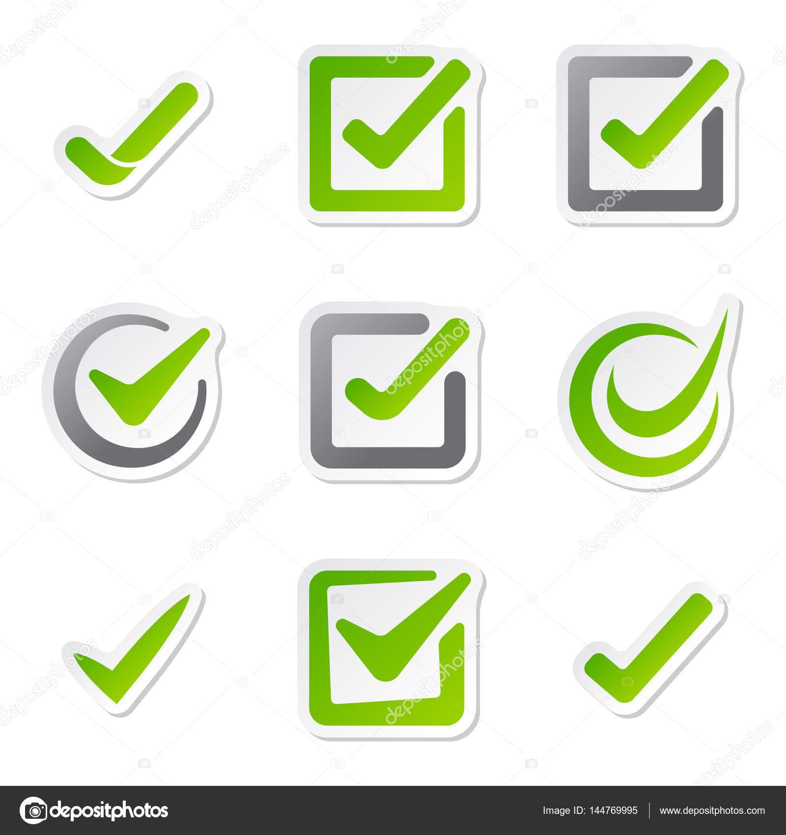 case cocher ic nes de vote marquent symbole choix oui et design correct bon accord vote. Black Bedroom Furniture Sets. Home Design Ideas