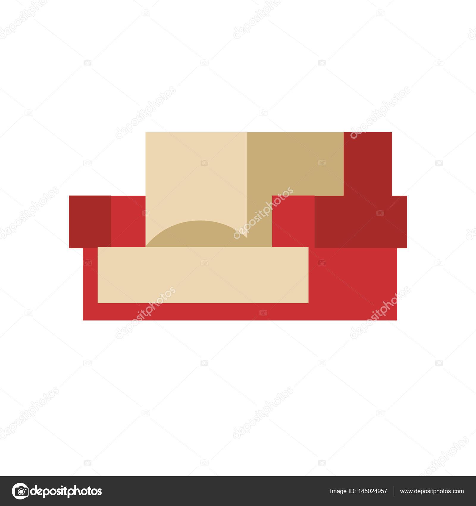 Vektor-Illustration Sofa isoliert isoliert lebende Möbel einfaches ...