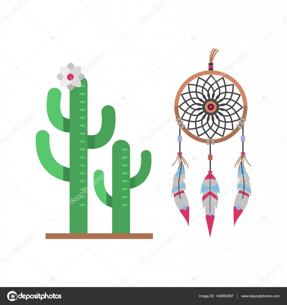 depositphotos stock illustration cactus flat style nature desert