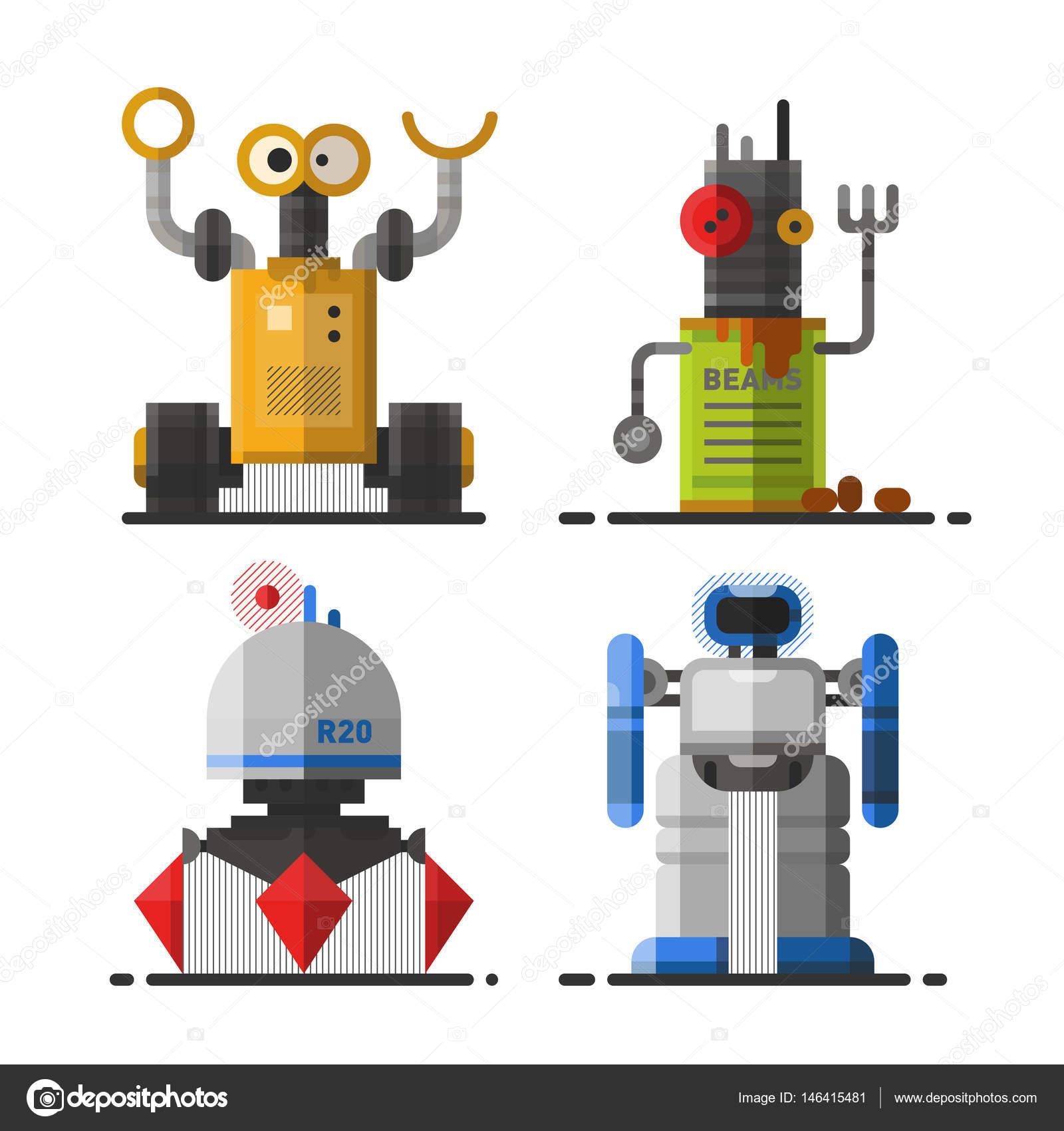 lindo robot vintage tecnologa mquina ciencia futuro juguete y cyborg futurista diseo elemento robtico icono personaje