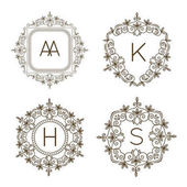 Monogram logo a text odznak emblém umění vektorové ilustrace luxusní šablona vzkvétá kaligrafické listy elegantní ozdoba znamení