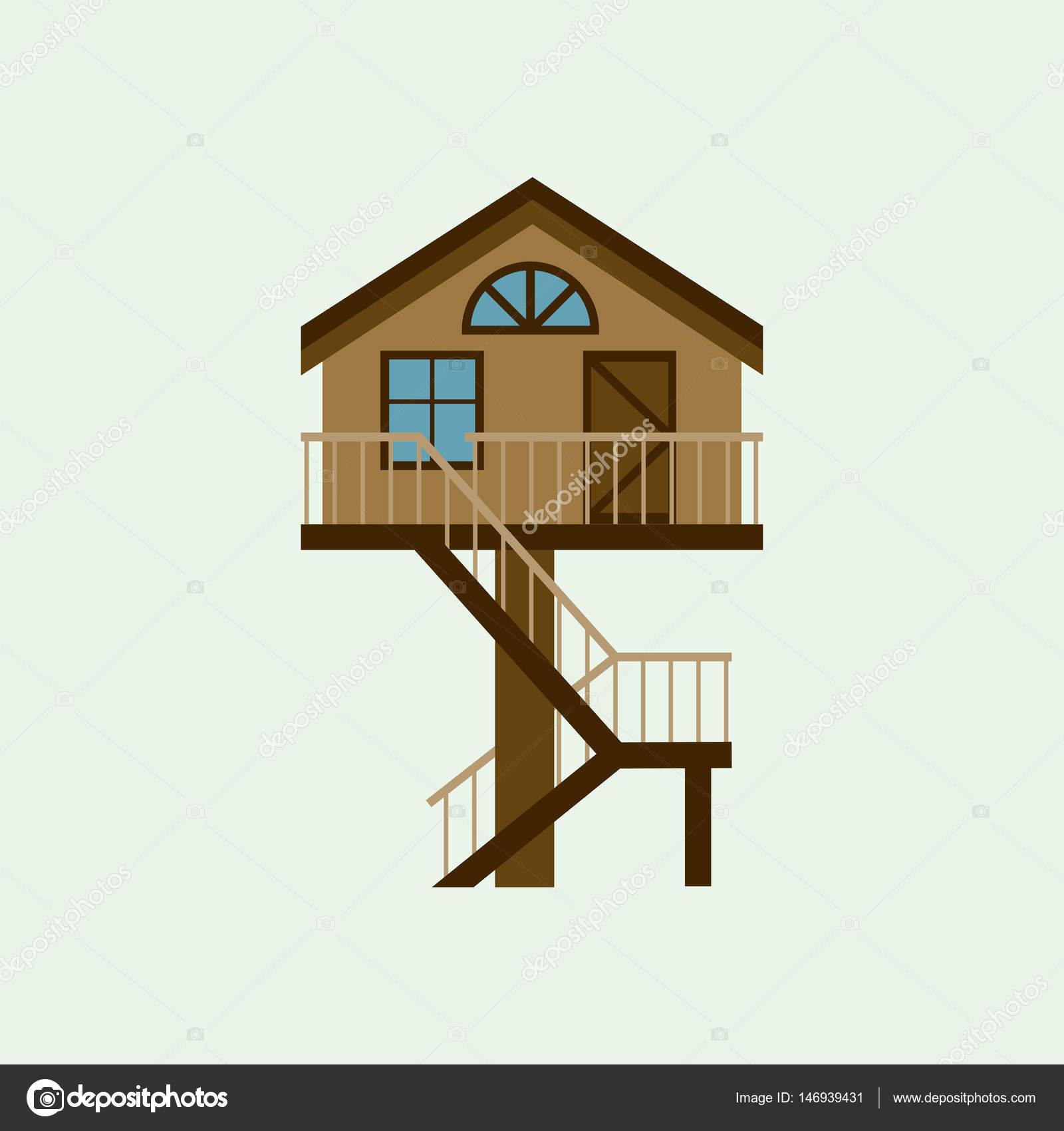 haus vorderansicht vektor-illustration architektur hausbau