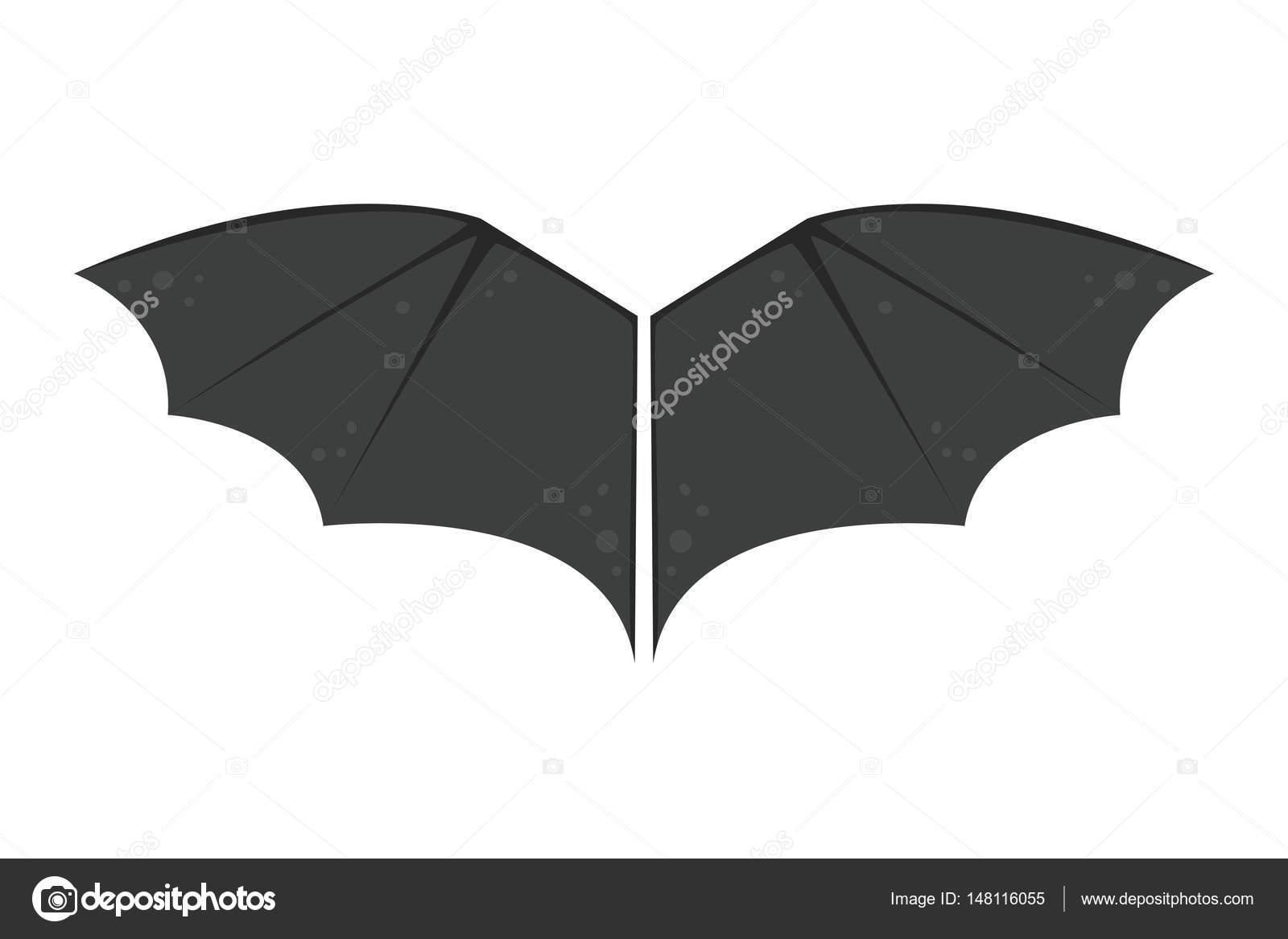 Ali Pipistrello Isolato Nero Animalwildlife Volare Halloween