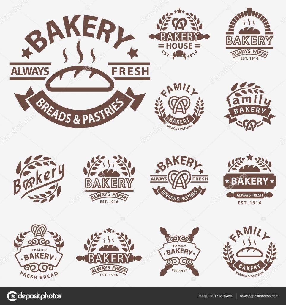 Bakery Badge Icon Fashion Modern Style Wheat Vector Retro