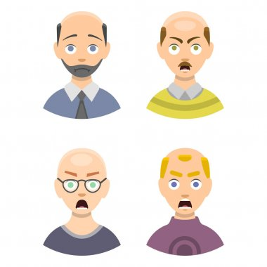 Information chart of hair loss stages types of baldness illustrated on male head vector.