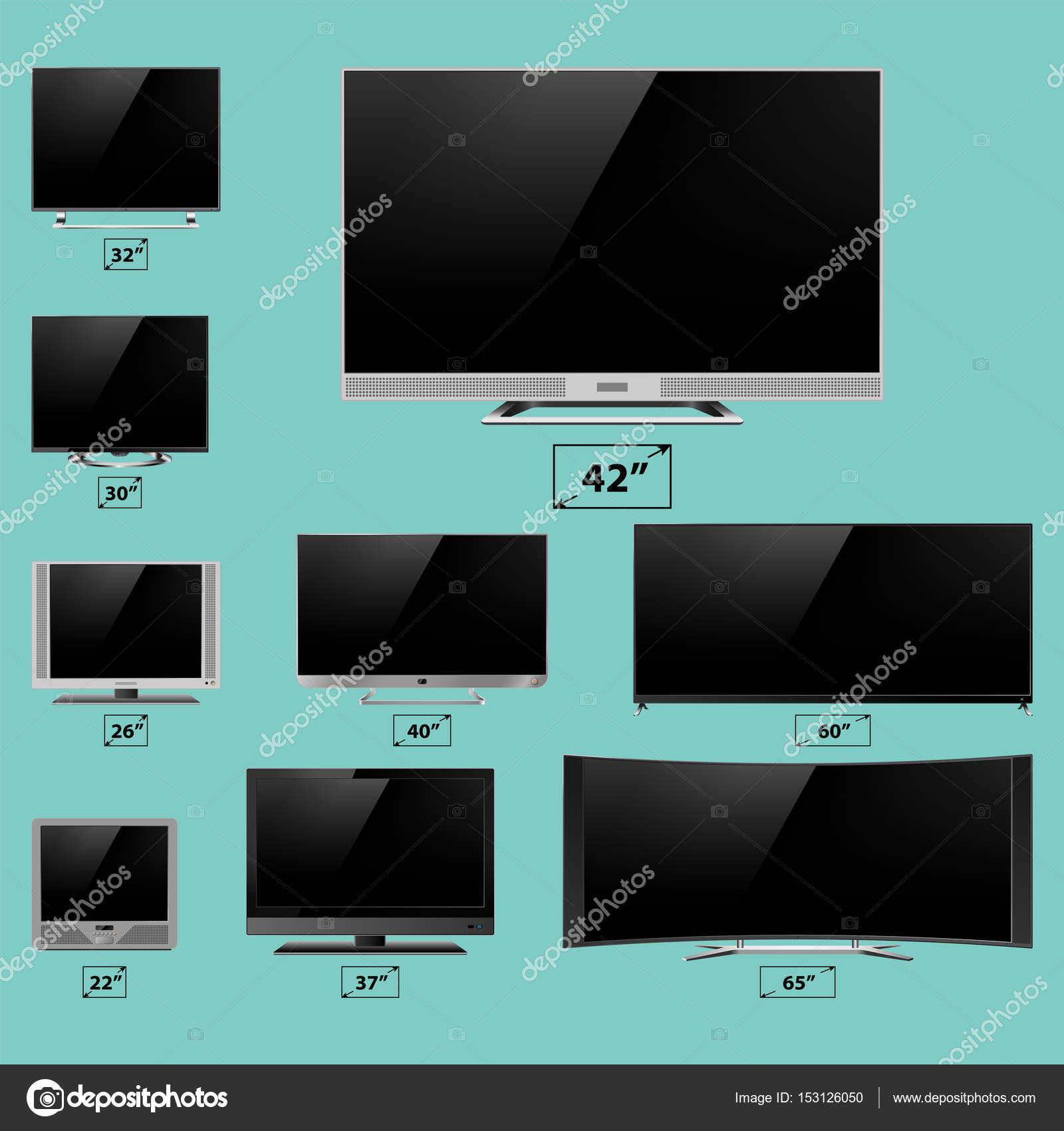 TV pantalla lcd monitor plantilla dispositivo electrónico ...