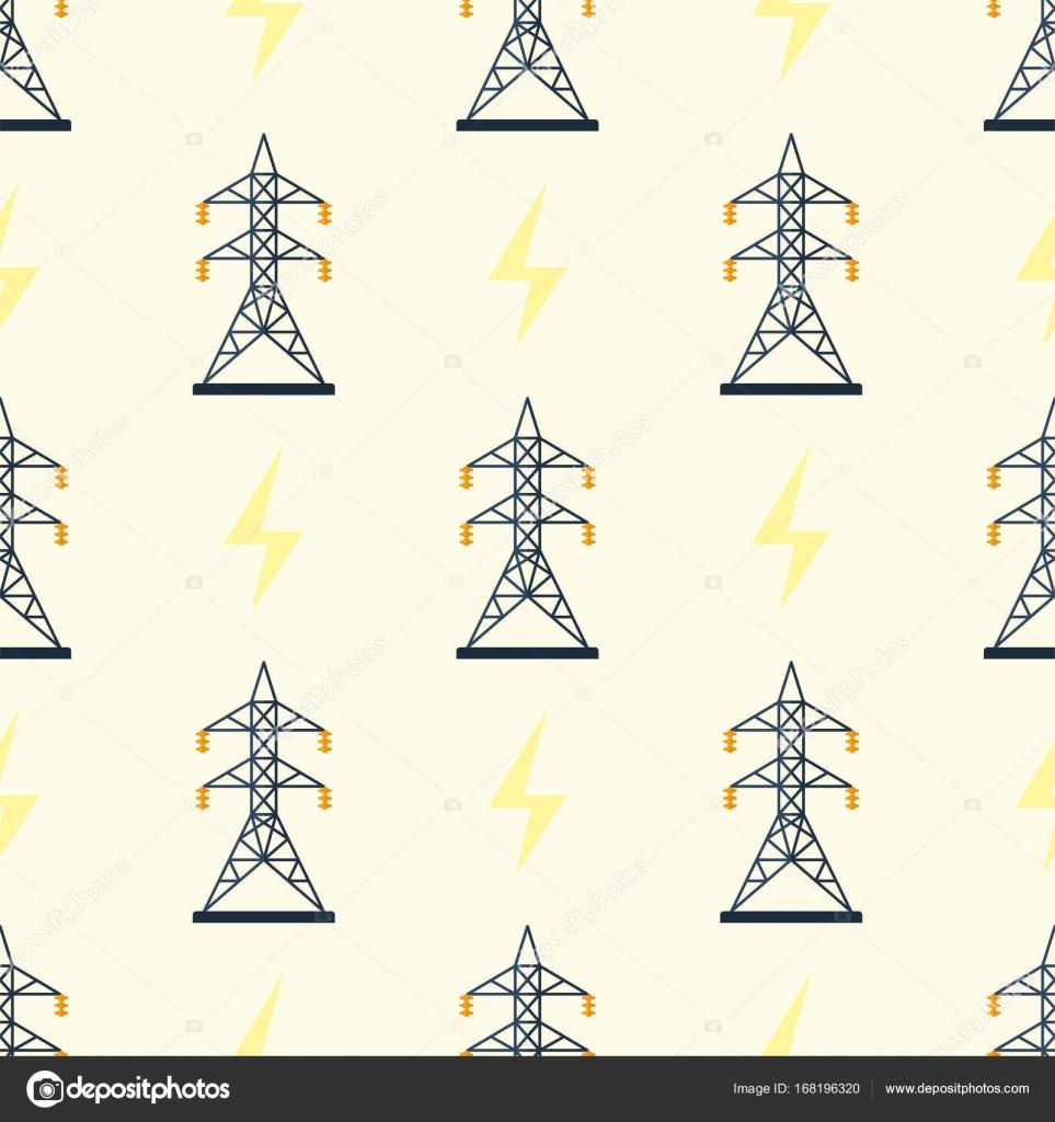 Elektrische Pol Musterdesign Vektor Illustration elektrische ...