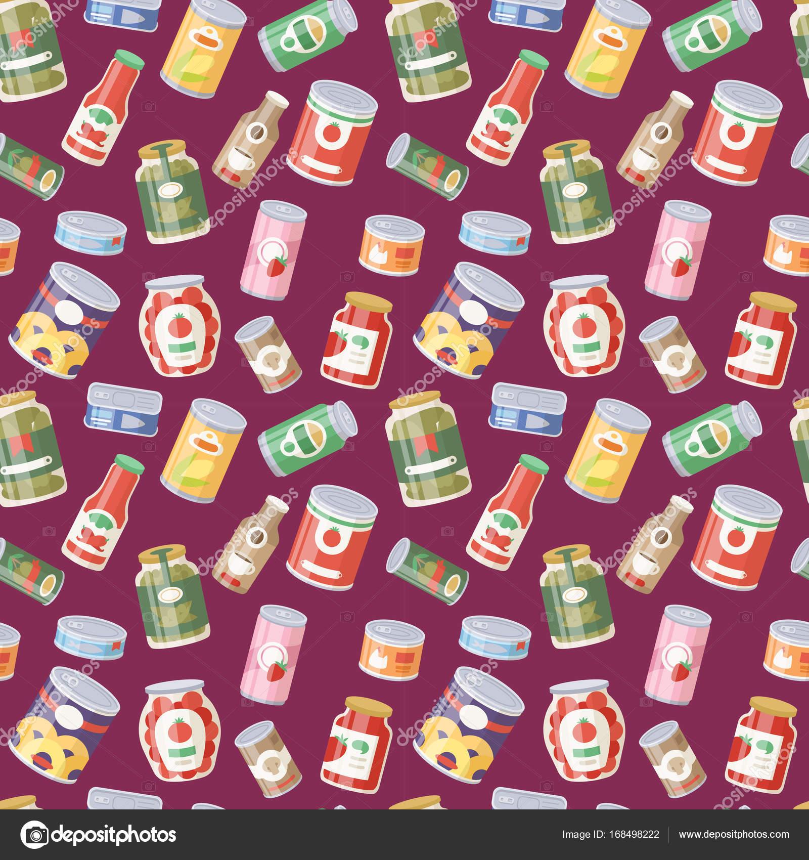 19e2afceeb Raccolta di vari barattoli in scatola merce alimentare contenitore  metallico negozio di alimentari e prodotti deposito alluminio piatto  conserva etichetta ...