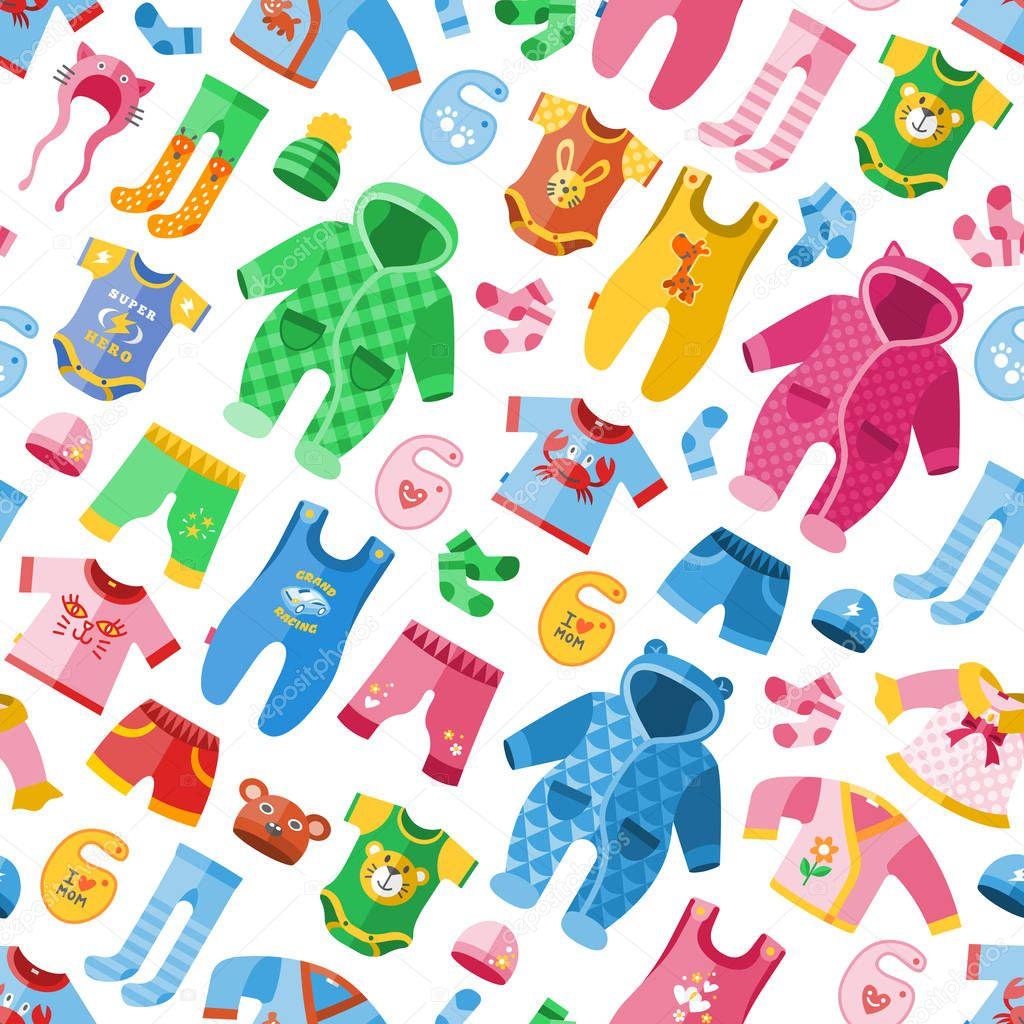 c9388c0f1ae Εποχιακά ενδύματα για βρέφη για Παιδικά Βρεφικά μόδα Βρεφικά παιδαριώδης  πανί διανυσματικά εικονογράφηση απρόσκοπτη μοτίβο φόντου — Διανυσματικό  Αρχείο ...
