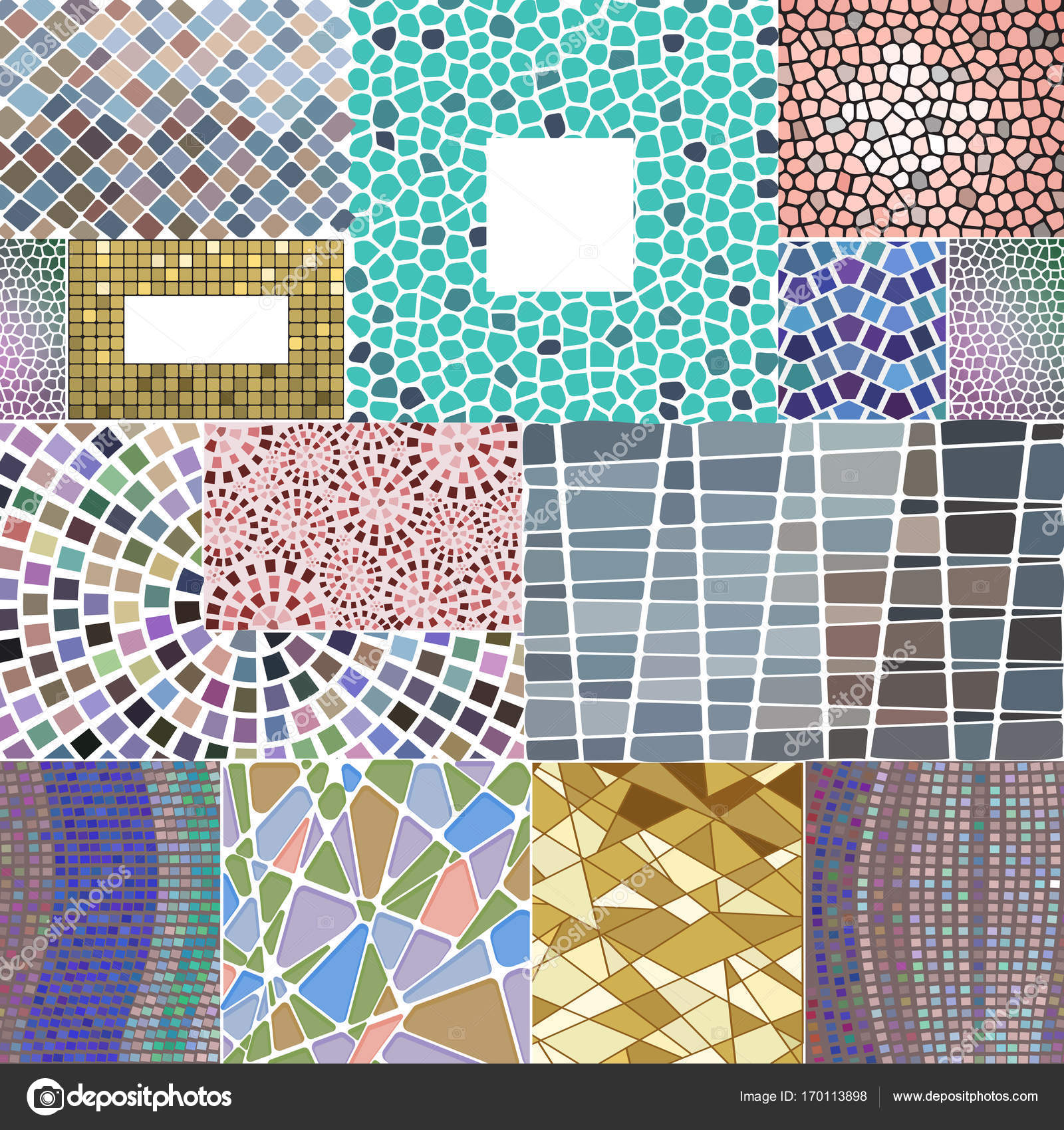 Mosaik Deko Rahmen Patchwork traditionelles Design geometrische ...