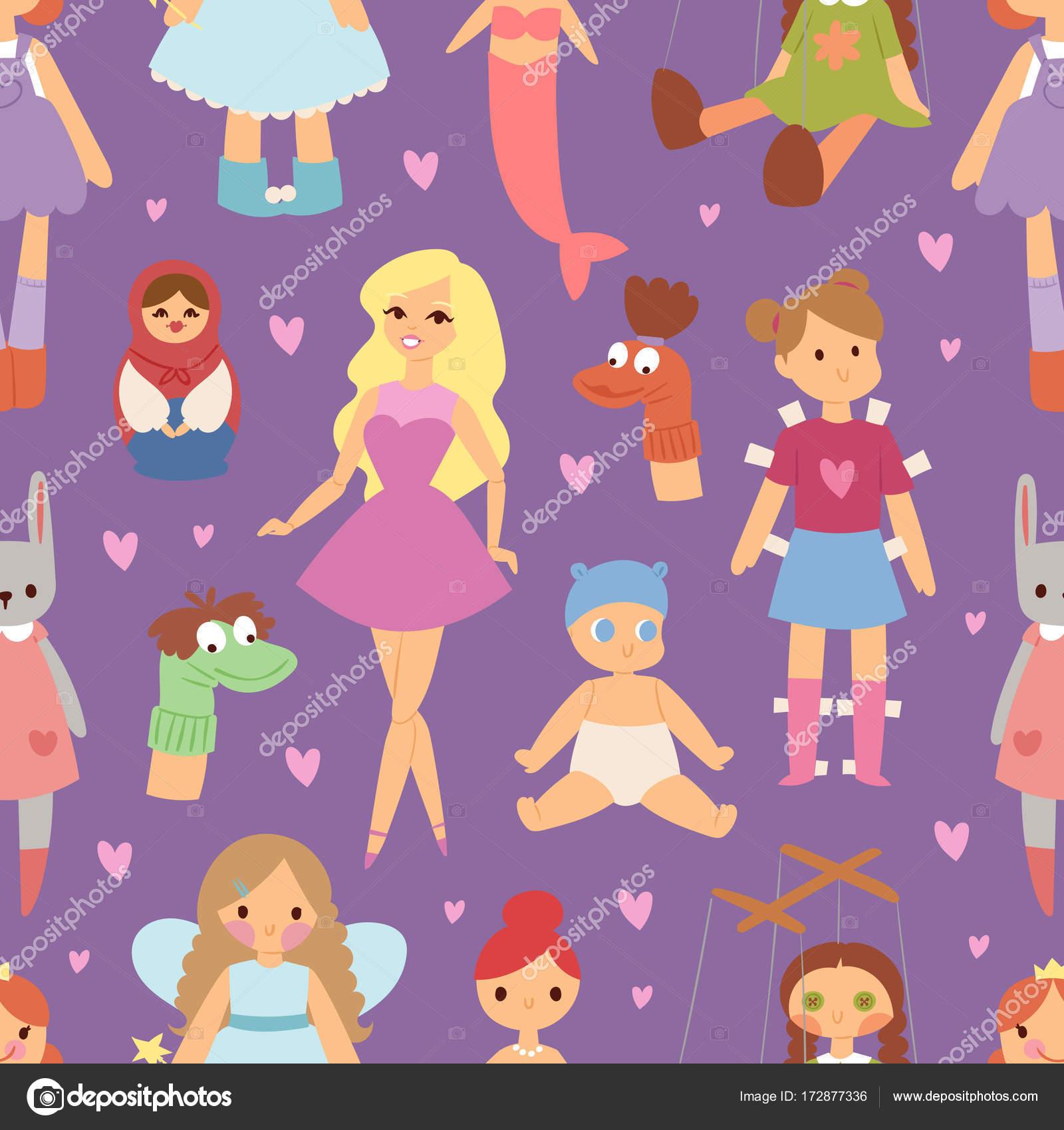 Diversas muñecas como ropa de moda de gente personaje ilustración de ...