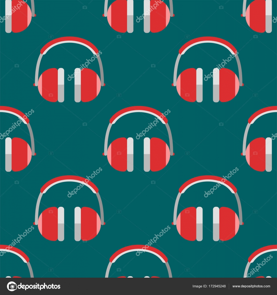 Vector headphones background hip hop seamless pattern musician