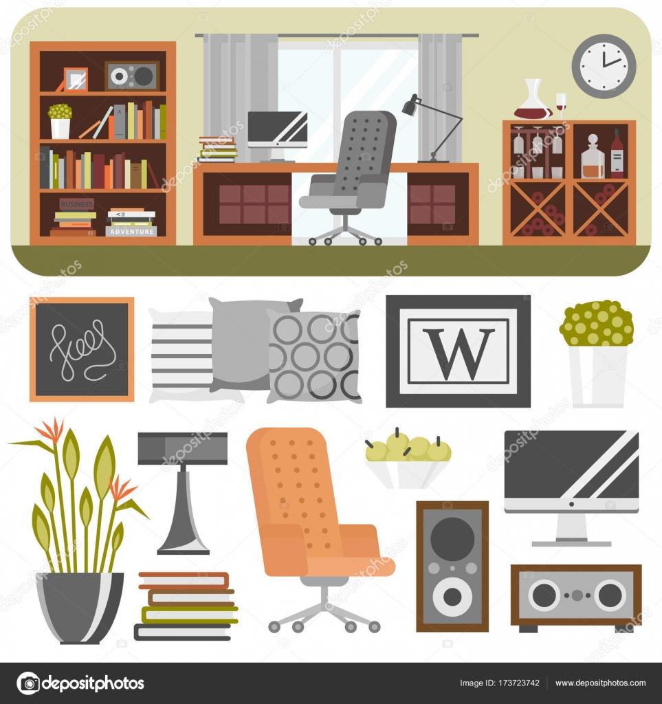 Details Im Innenraum Design Stilisierte Zeichnung Modernes