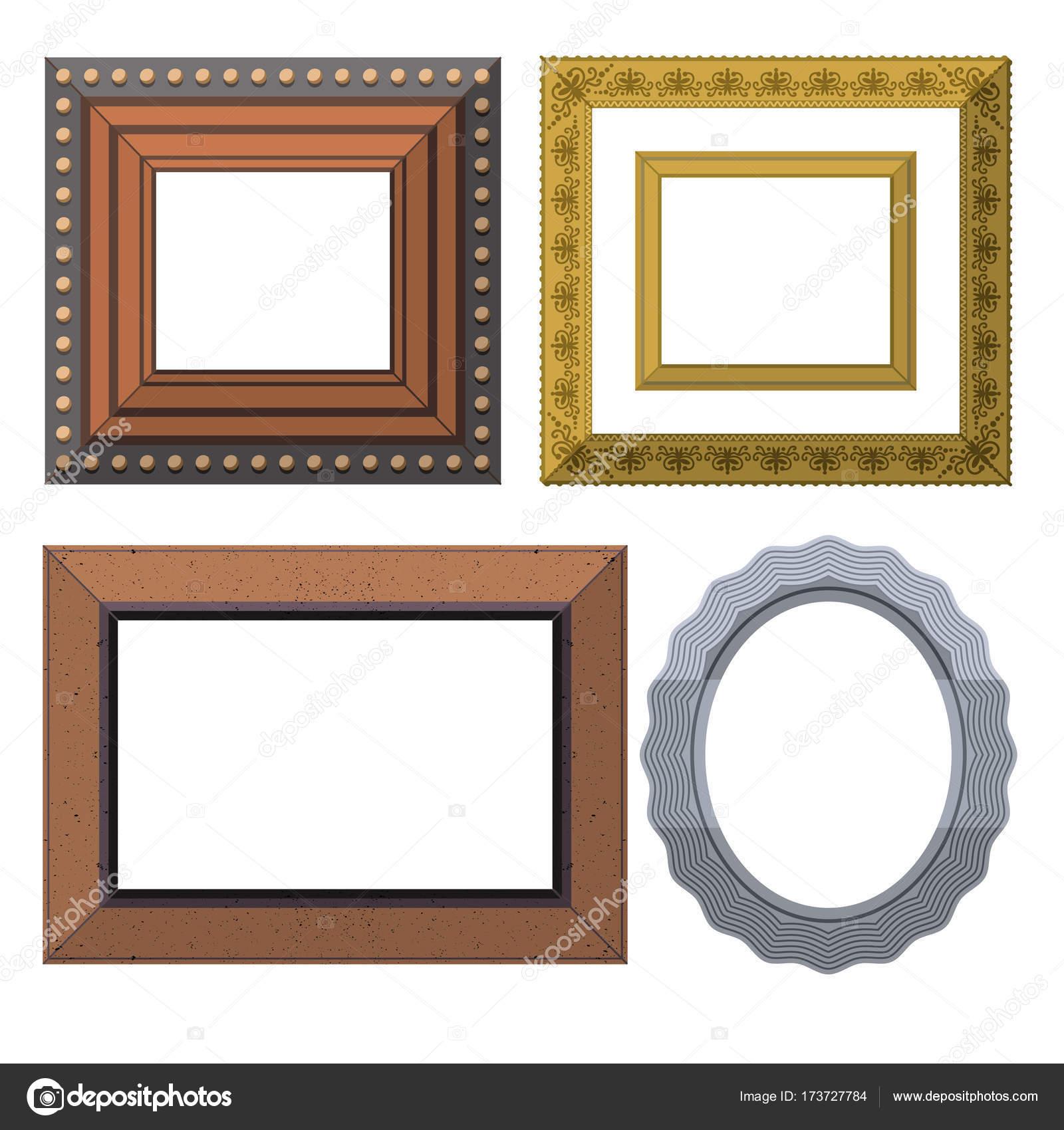 Cuadro marco Museo exposición interiores decorativos vector foto ...