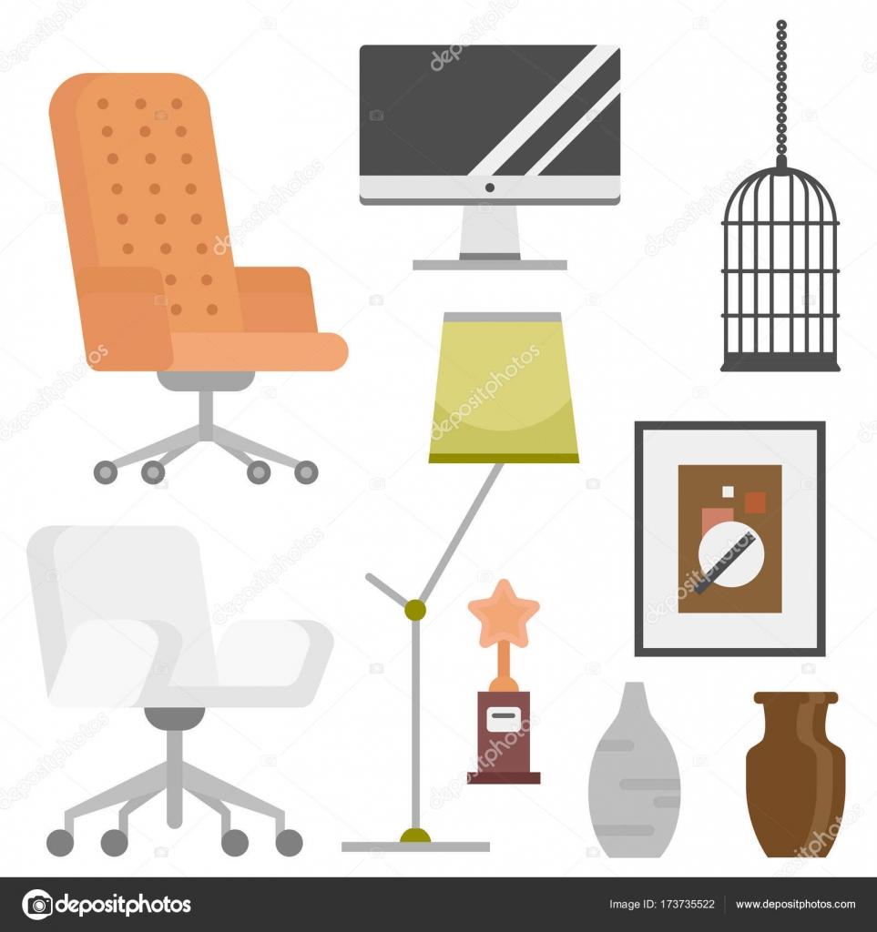 Details im Innenraum Design stilisierte Zeichnung modernes Interieur ...