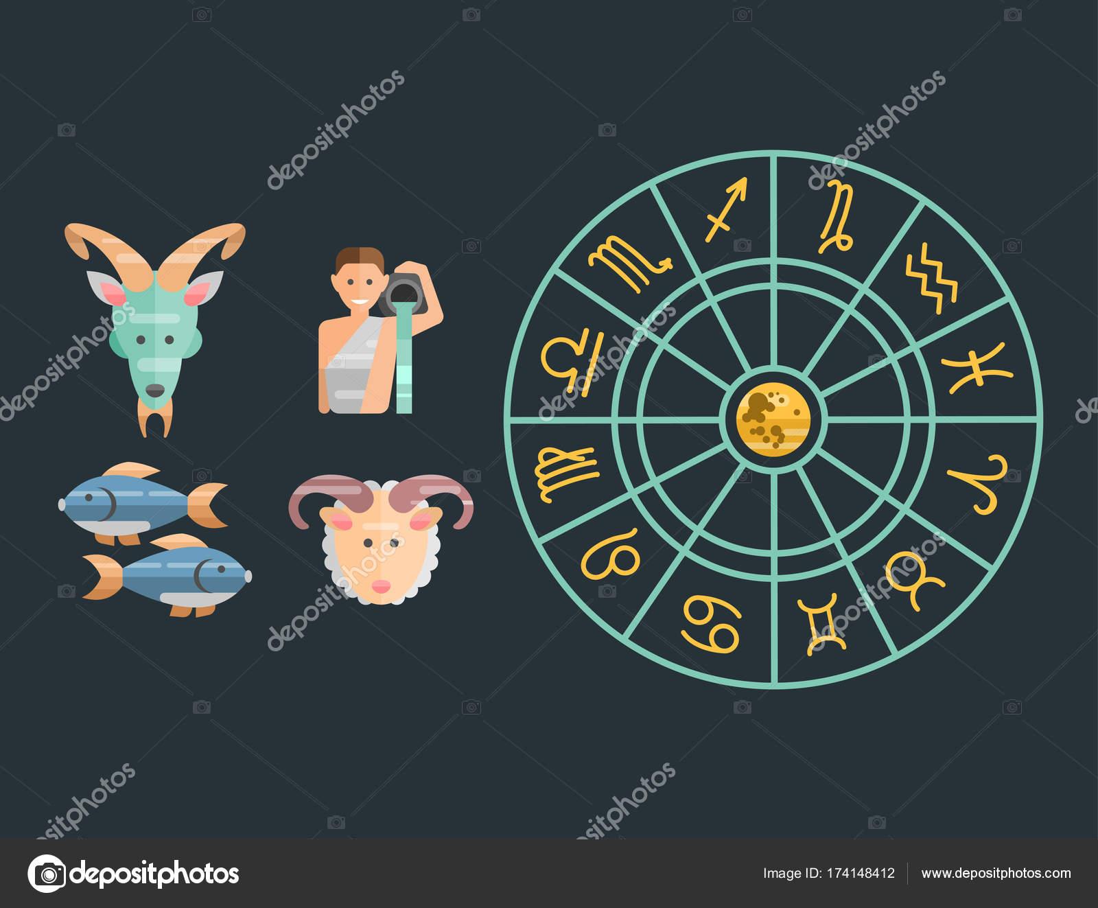 Calendario Esoterico.Segni Dello Zodiaco Set Piatto Di Oroscopo Collezione Star